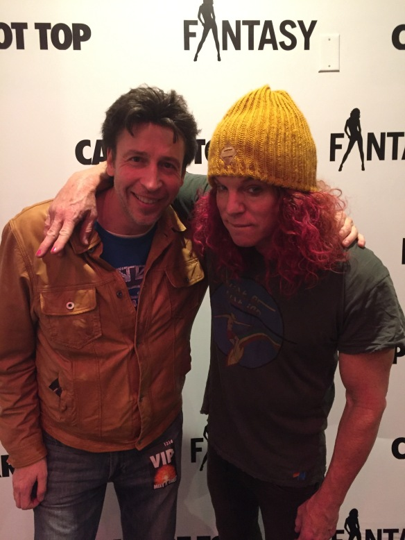 Carrot Top and Elvis Winterbottom backstage before Carrot Top's show.
